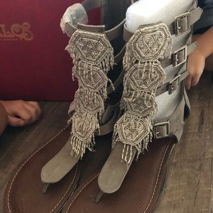 Carlos Taos Gladiator Sandals 9.5 NEW IN BOX